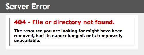 Votre page d'erreur HTTP 404 sous IIS 7.